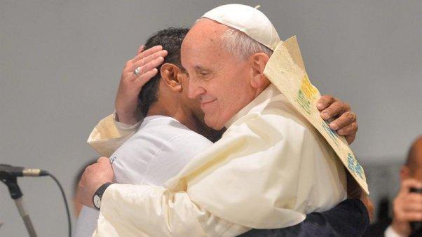 abrazo del Papa